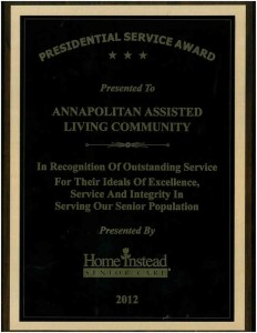 Home Instead Service Award