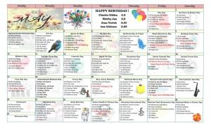 May 2015 Resident Calendar