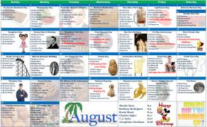 August 2015 Resident Calendar