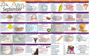 September 2015 Resident Calendar