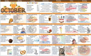 October 2015 Resident Calendar