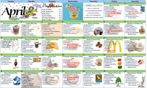 April 2016 Resident Calendar