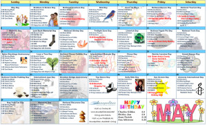 May 2016 Resident Calendar