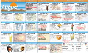 August 2017 Resident Calendar