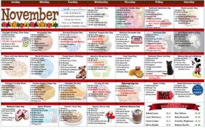 November 2017 Resident Calendar