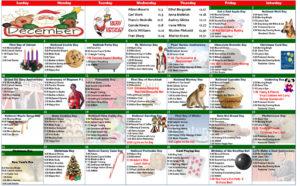 December 2017 Resident Calendar