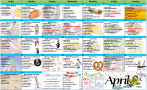 April 2018 Resident Calendar