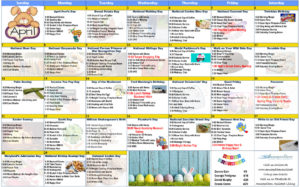 April 2019 Resident Calendar