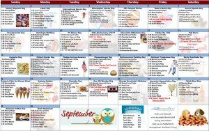 September 2019 Resident Calendar
