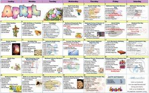 April 2020 Resident Calendar