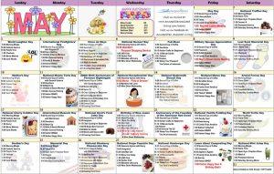 May 2020 Resident Calendar