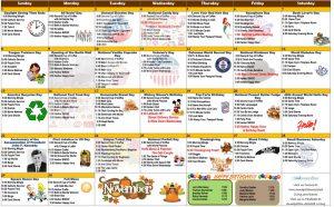November 2020 Resident Calendar
