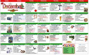 December 2020 Resident Calendar