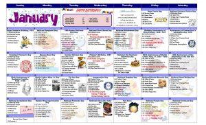 January 2021 Resident Calendar