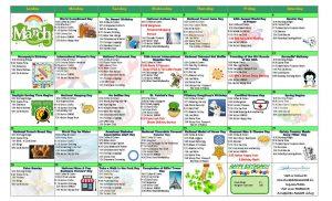 March 2021 Resident Calendar