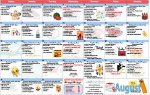 August 2021 Resident Calendar