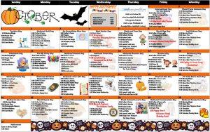 October 2021 Resident Calendar